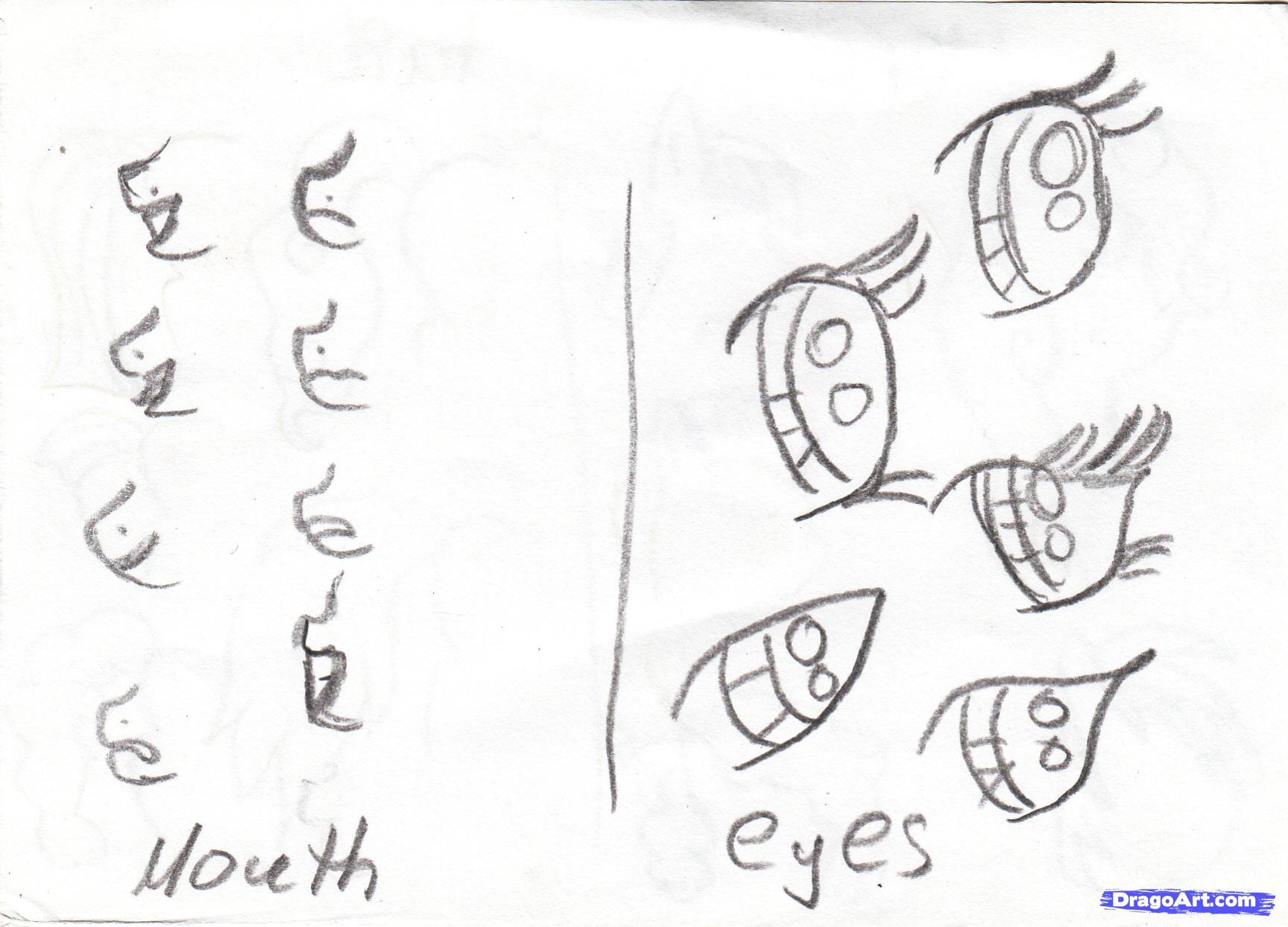 Drawn my little pony eye Princess version draw Step to