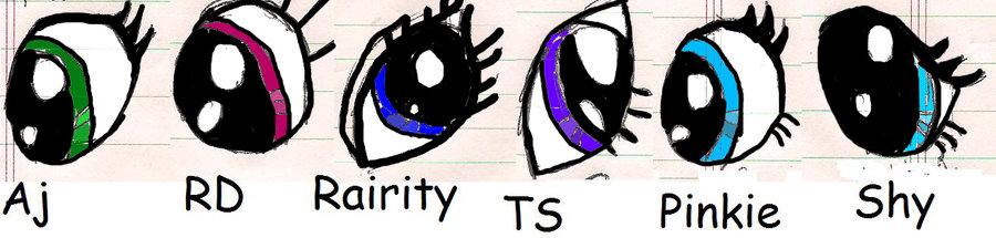 Drawn my little pony eye Eyes (My by 3Bri111 DeviantArt