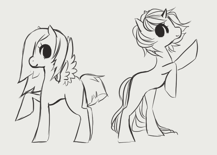 Drawn my little pony female Characters Little To To Pony