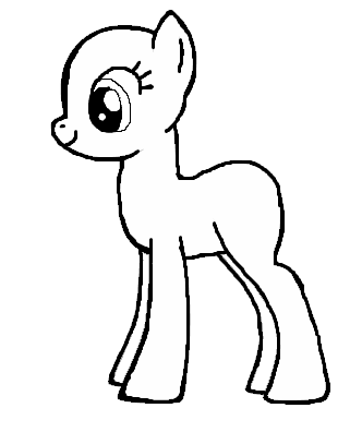 Drawn my little pony female Best Crafts · Outline Little