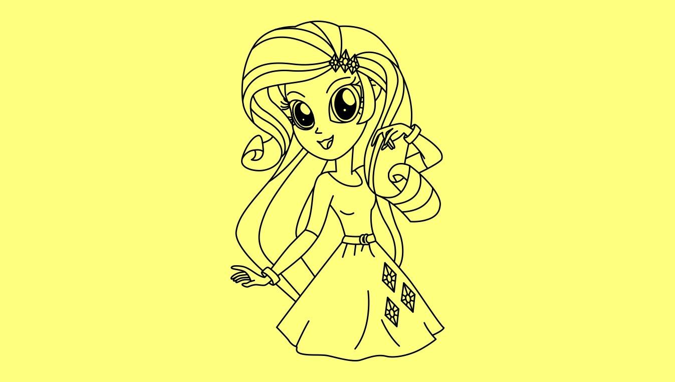 Drawn my little pony female Step Rarity step to Rarity