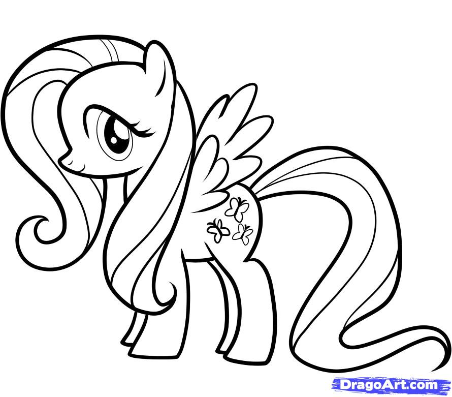 Drawn my little pony fluttershy My to Little Little Draw