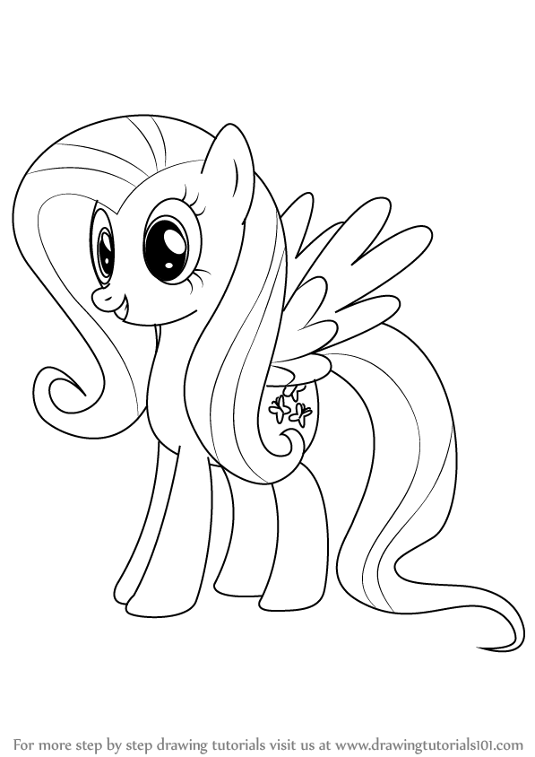 Drawn my little pony fluttershy Tutorials How Fluttershy How Step