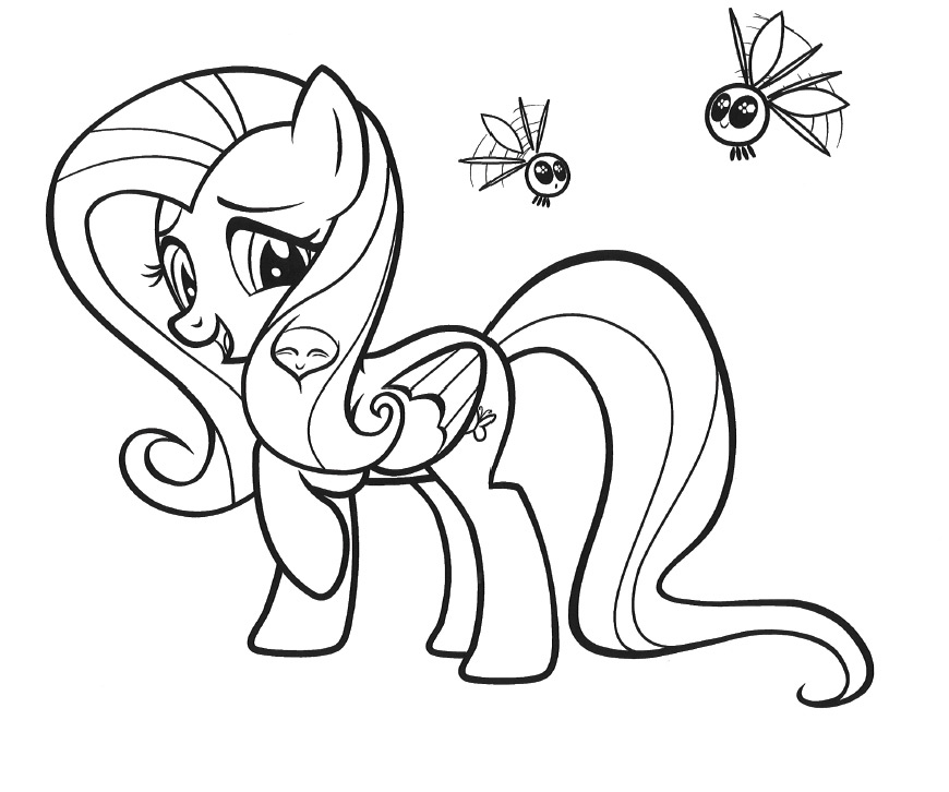 Drawn my little pony fluttershy coloring Pages My Fluttershy Little coloring