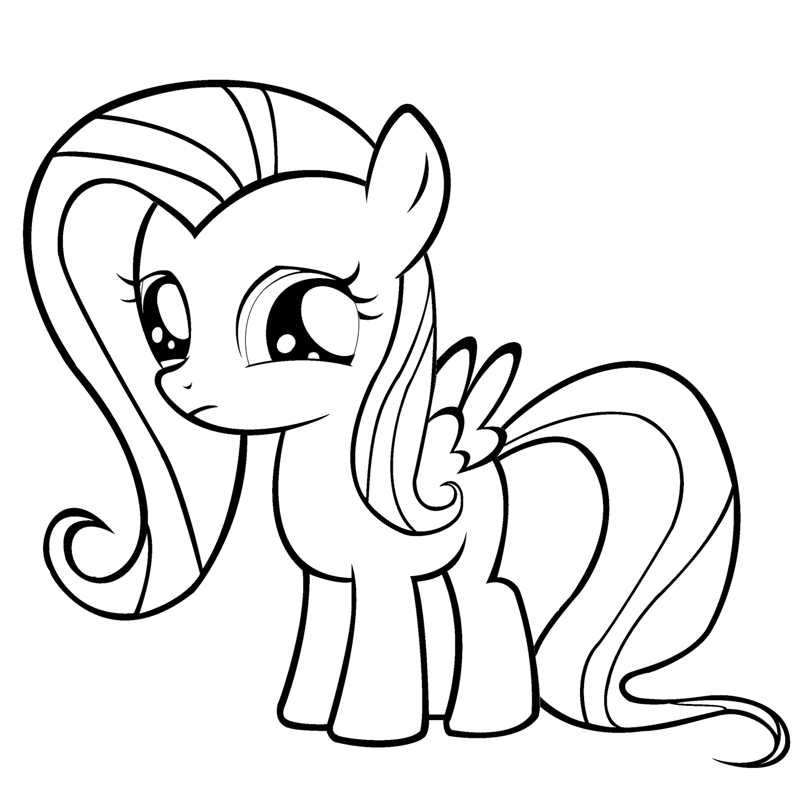 Drawn my little pony fluttershy coloring Out my on finished pages