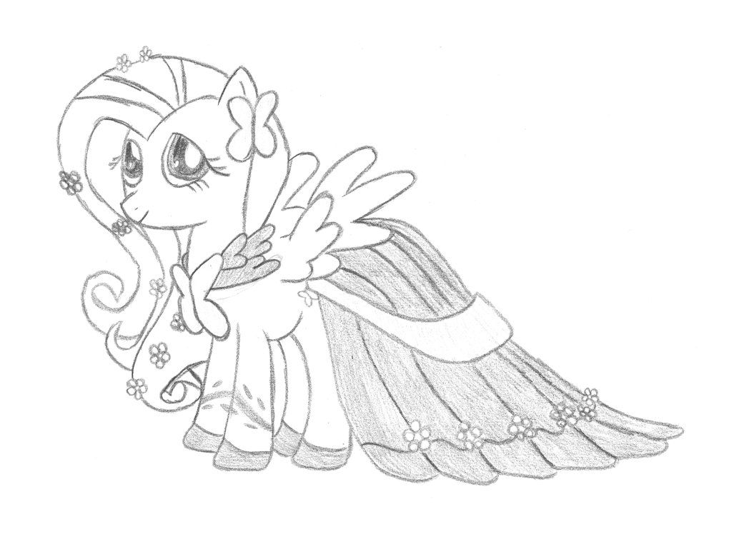 Drawn my little pony fluttershy coloring Coloring Coloring Best Pages Page
