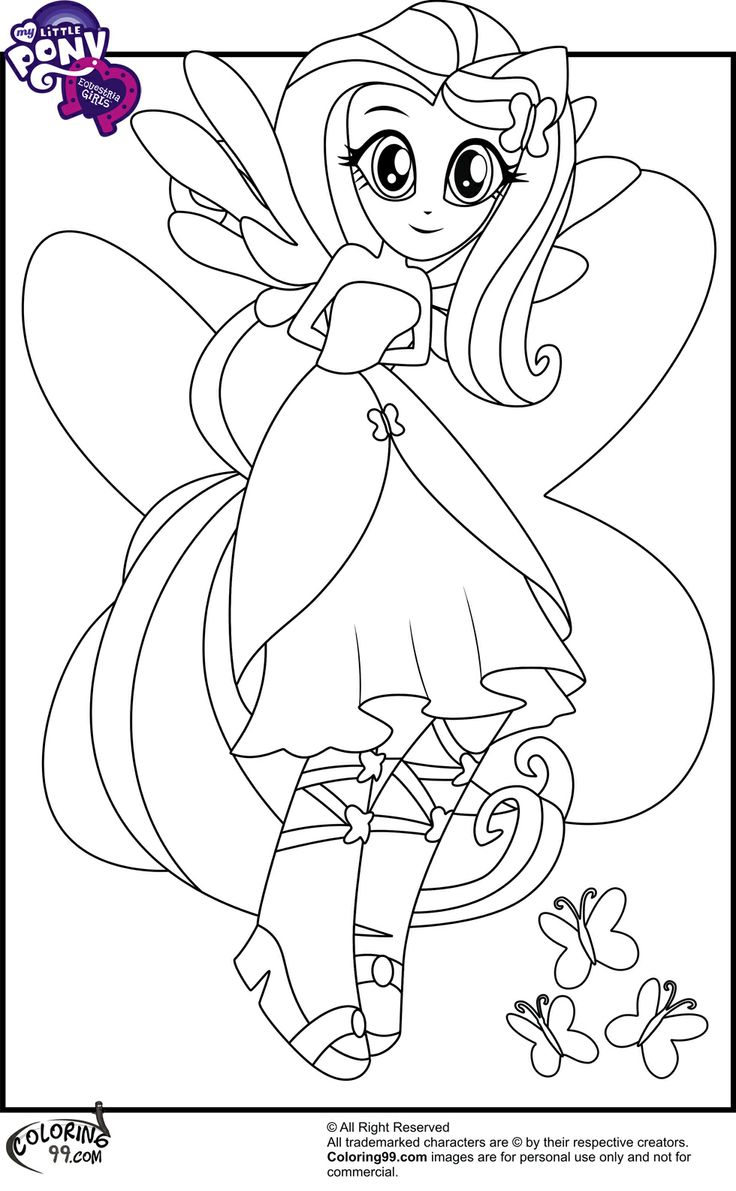 Drawn my little pony fluttershy coloring Fluttershy Little Coloring http://east http://east
