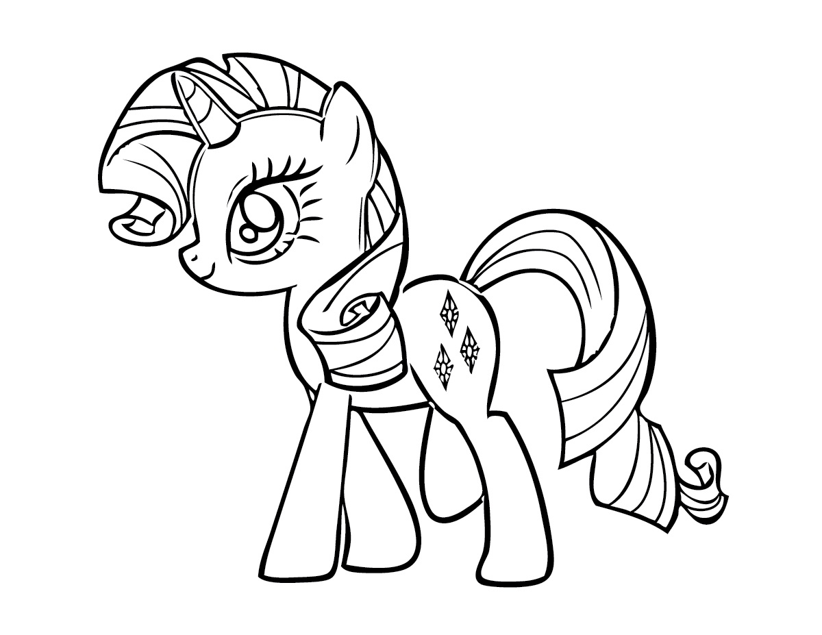 Drawn my little pony for kid Coloring Printable IT Pages Pages