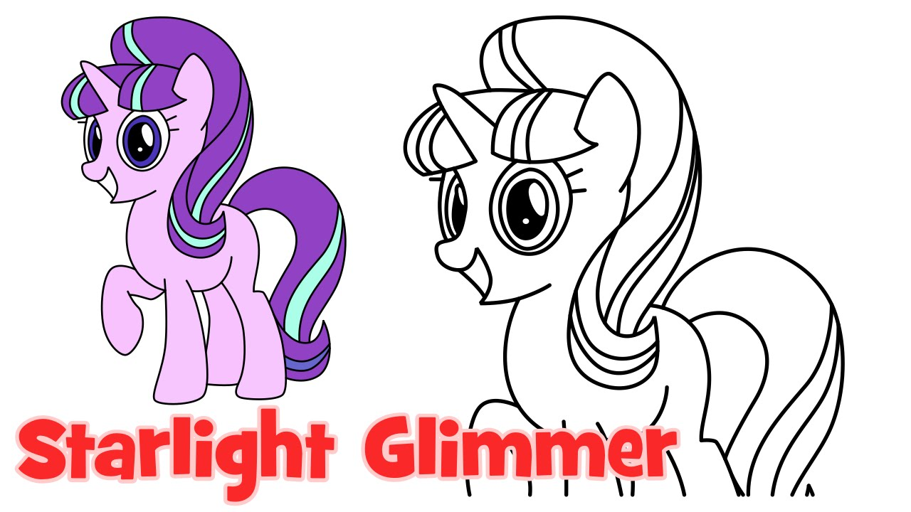 Drawn my little pony for kid Kids step Glimmer How Little