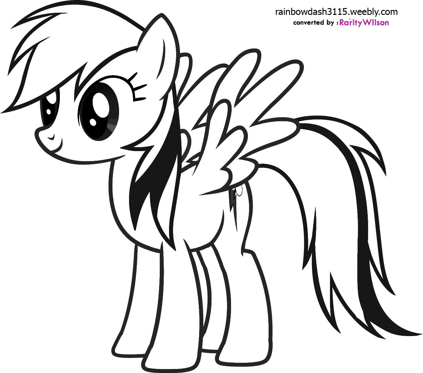 Drawn pony coloring book Colouring Rainbow  the Little