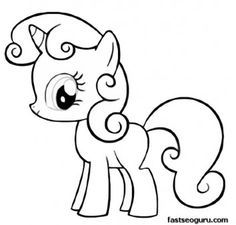 Drawn my little pony for kid For pages coloring my Magic