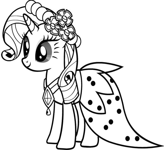 Drawn my little pony for kid Pony images on Coloring Cute
