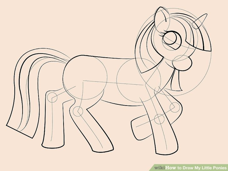 Drawn my little pony hair Step titled 4 Little Draw