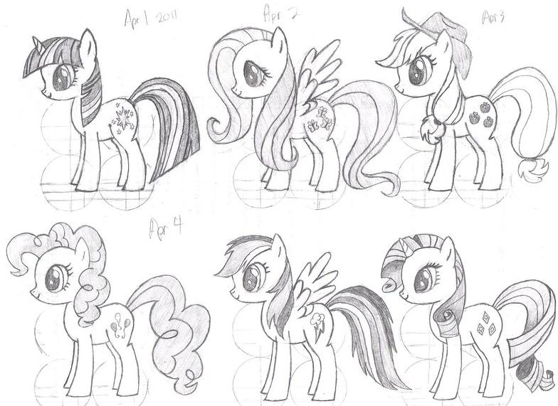 Drawn my little pony hair The How used » I