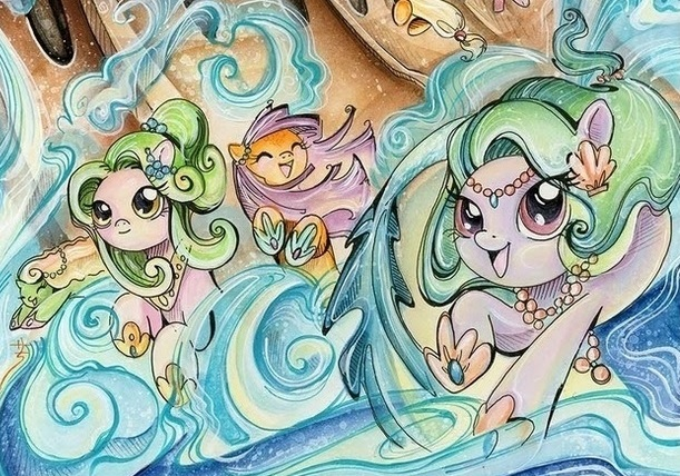 Drawn my little pony hippocampus Comic Hippocampus issue jpg Little