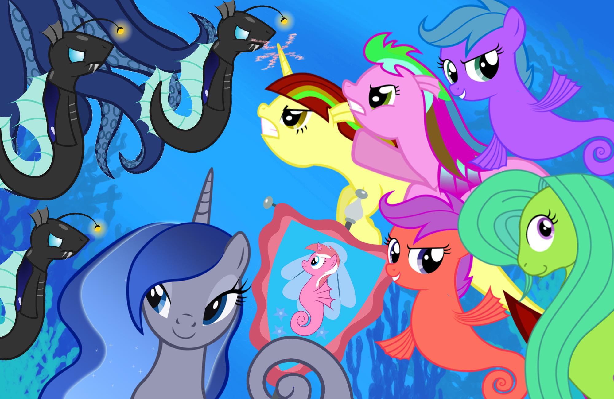 Drawn my little pony hippocampus In Pony! My by merponies