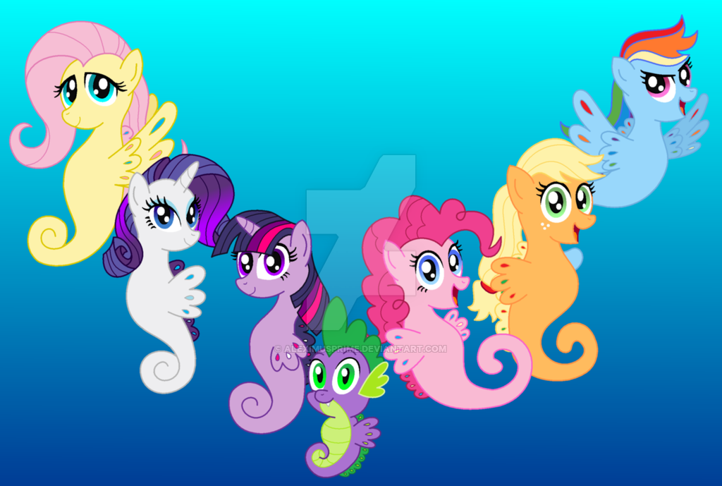 Drawn my little pony hippocampus My final Little by on