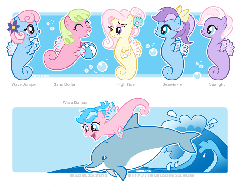 Drawn my little pony hippocampus Shoo G1 be Sea —