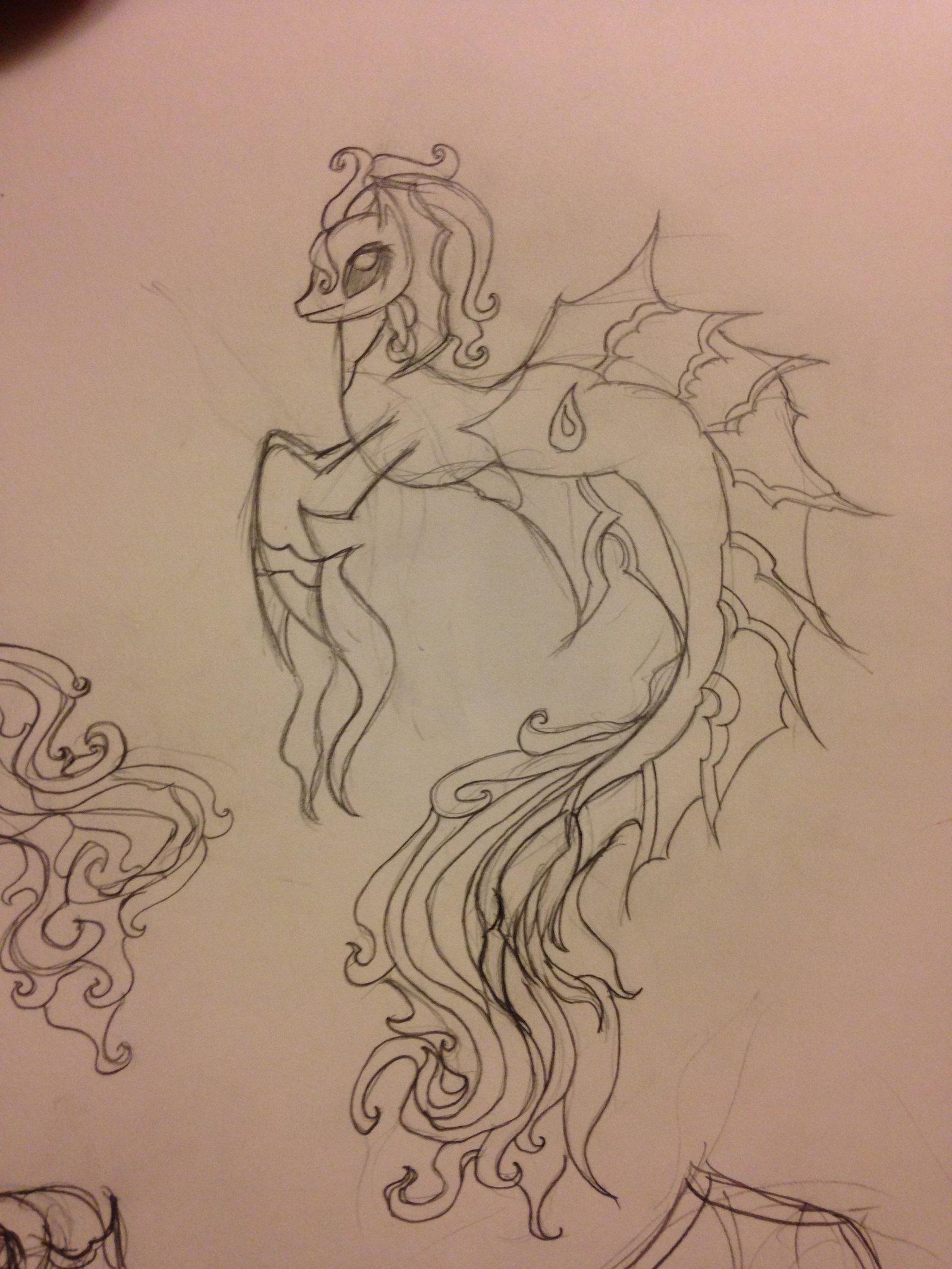 Drawn my little pony hippocampus DeviantArt form) My by Little