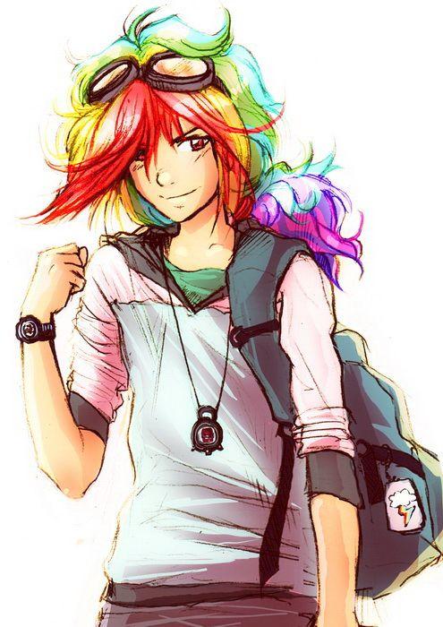 Drawn my little pony human boy Human as Genderbend Mi