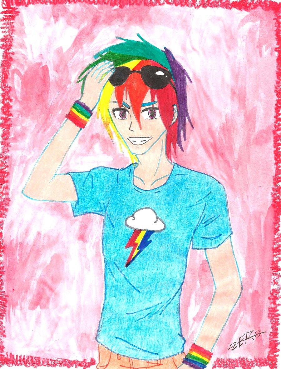 Drawn my little pony human boy Anime Human Dash Boy More