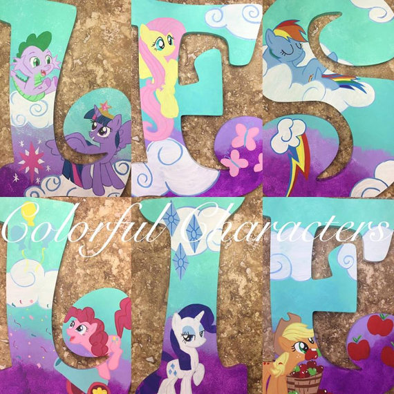 Drawn my little pony letter Letters letters painted pony order