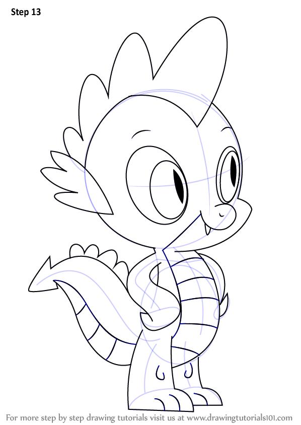 Drawn my little pony like Draw Learn Make Spike