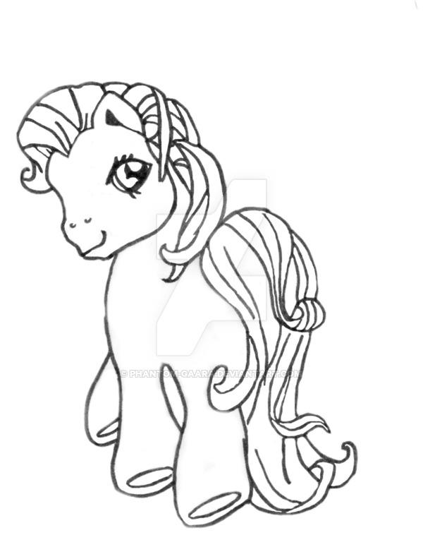 Drawn my little pony line art Phantom 1 Line Line Pony