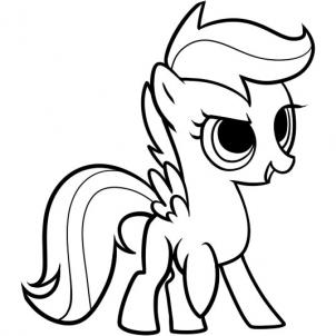 Drawn my little pony line art By scootaloo  little scootaloo