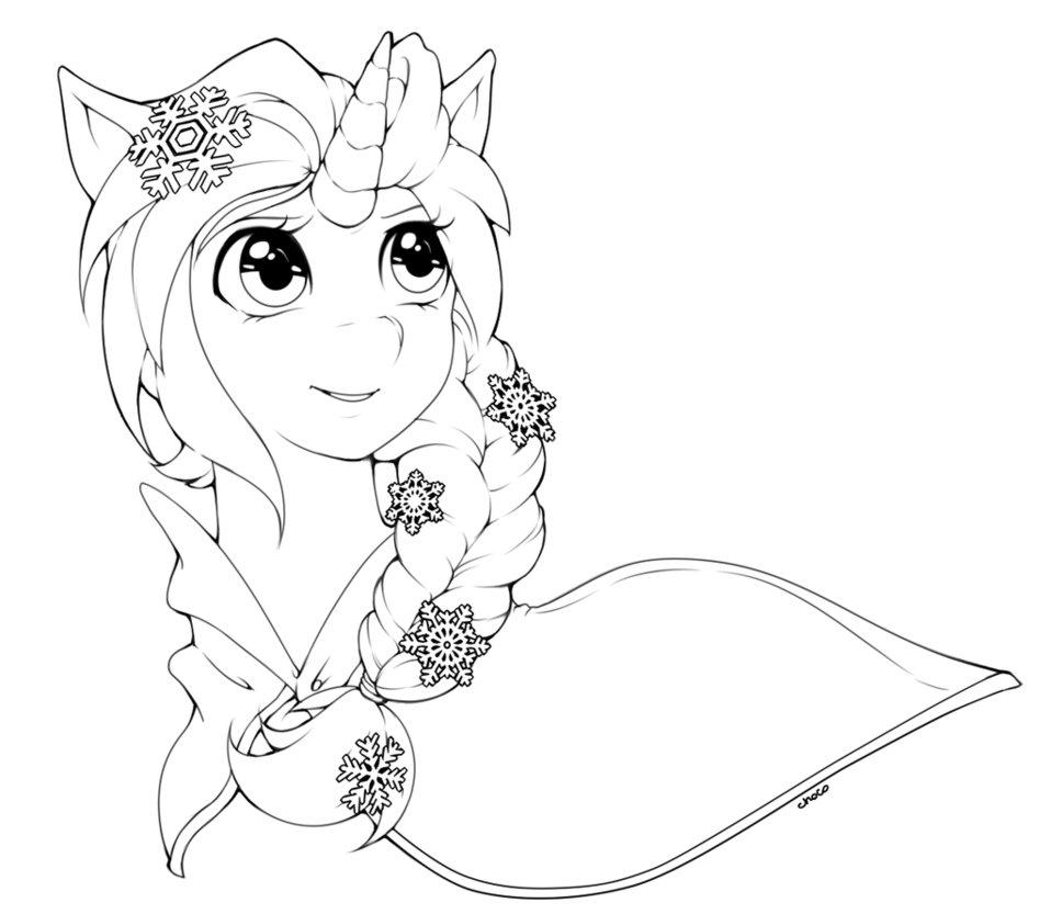 Drawn my little pony line art Lineart by frozen by Elsa