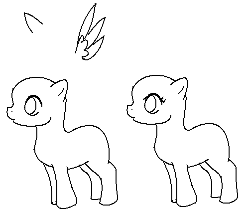Drawn my little pony line art My Blood lineart Blood by