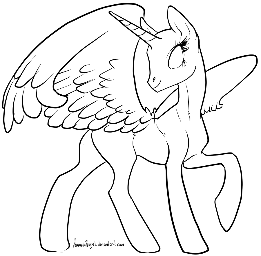 Drawn my little pony line art  alicorn grade: Search on