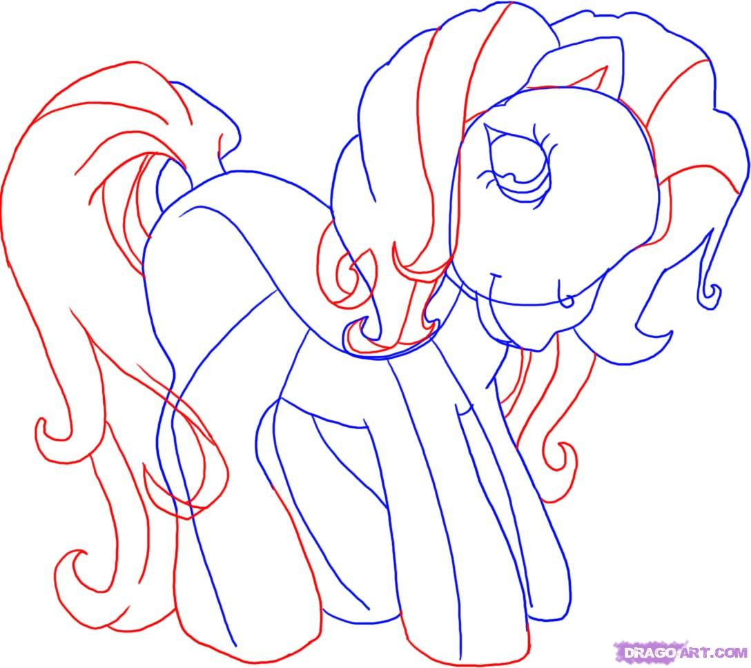 Drawn my little pony littel Step To ponies Draw little