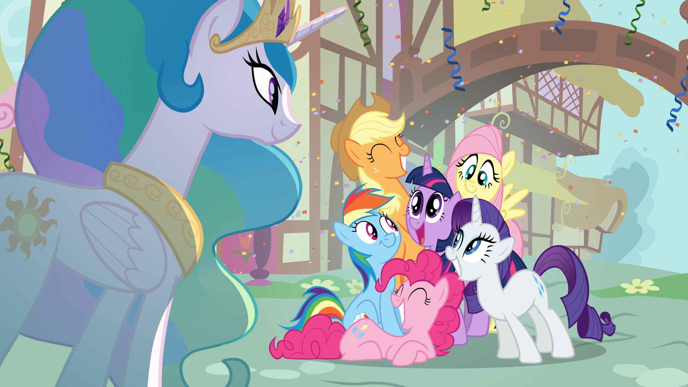 Drawn my little pony maj Magic Little scenes to has