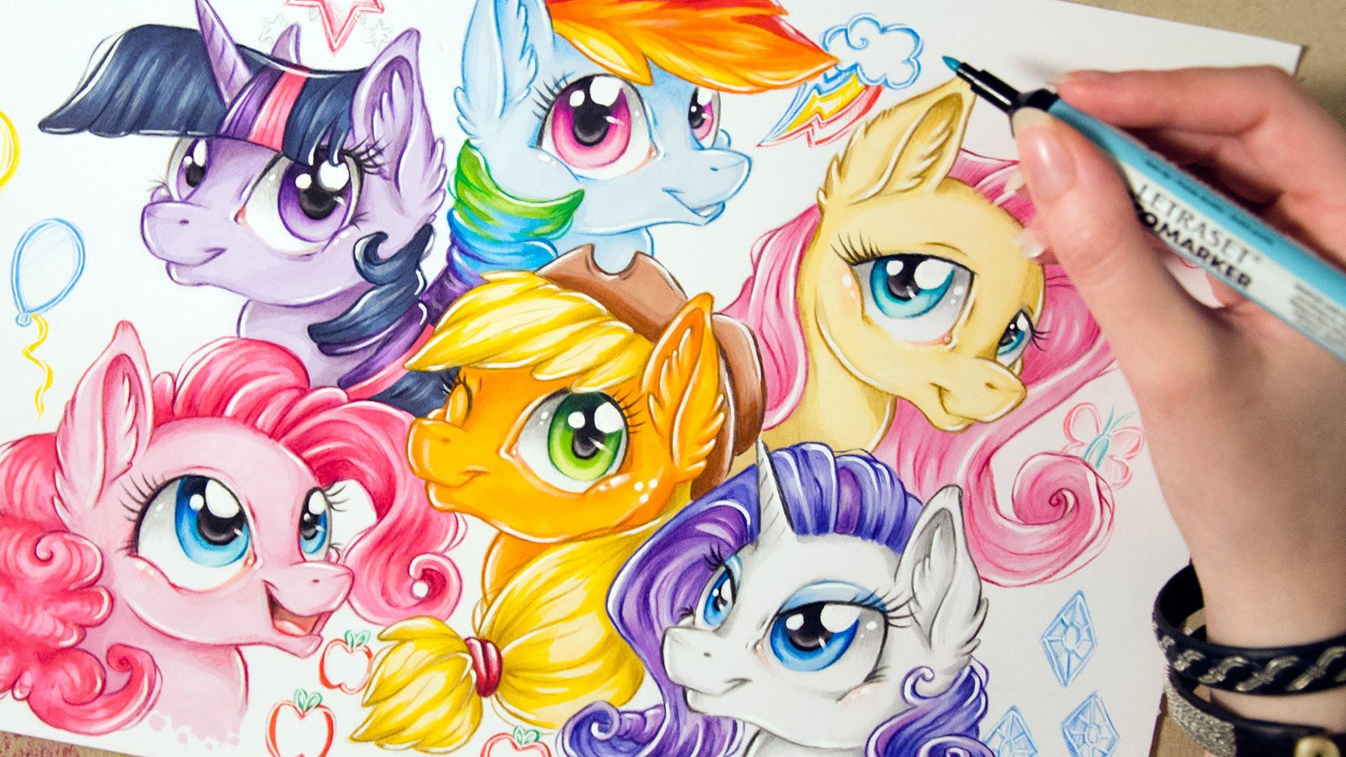 Drawn my little pony mane Speed Drawing Pony Art version)