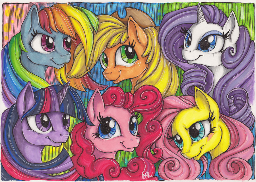 Drawn my little pony mane Best this art art little