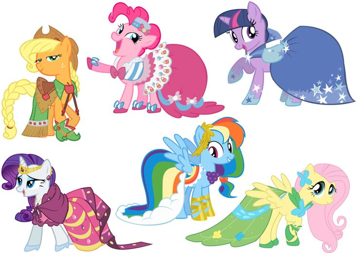 Drawn my little pony mane Gala six Drawing Dresses six