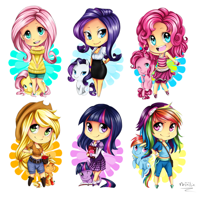 Drawn my little pony mane six human MLP on MLP on 6