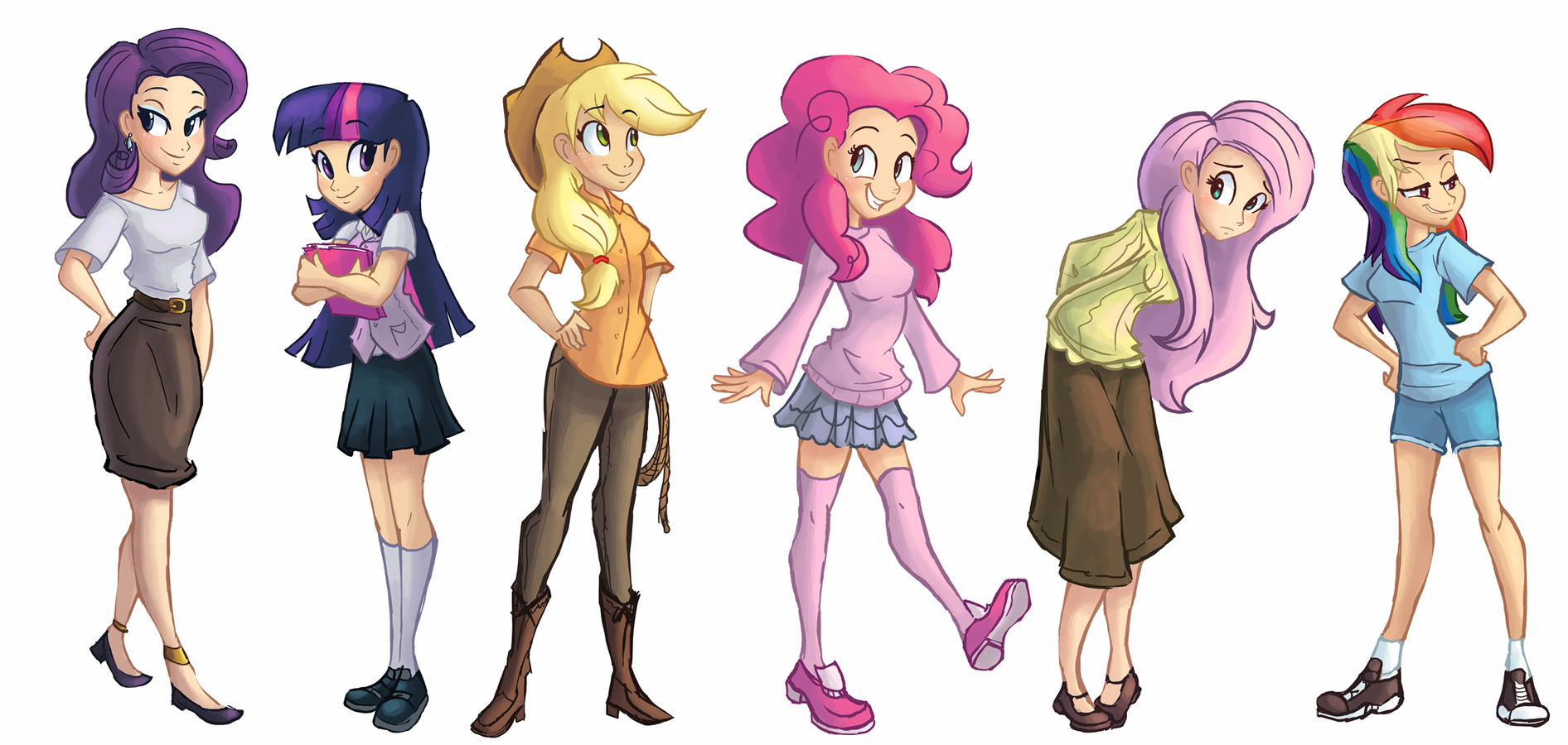 Drawn my little pony mane six human Little human pony pony magical