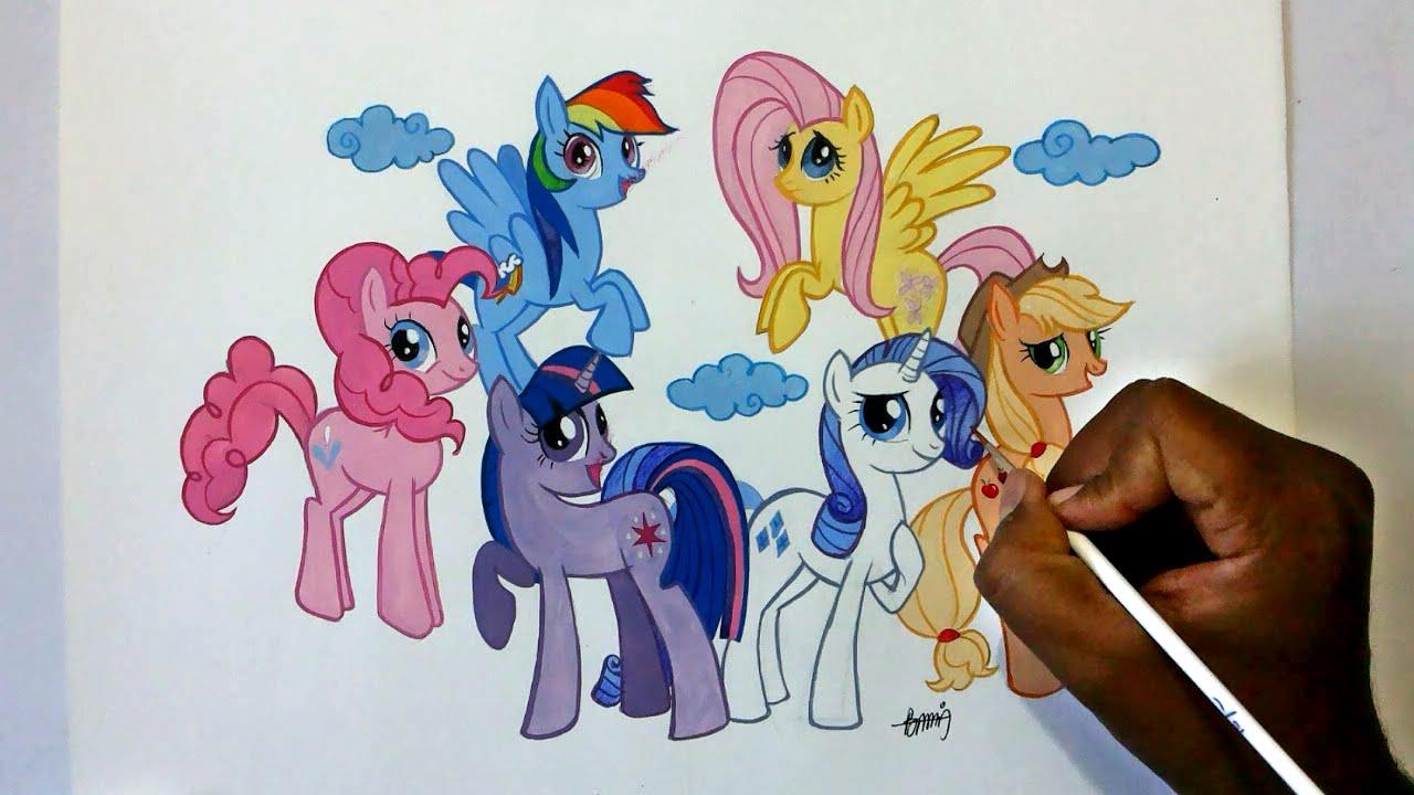Drawn my little pony name Pony  magic little Six