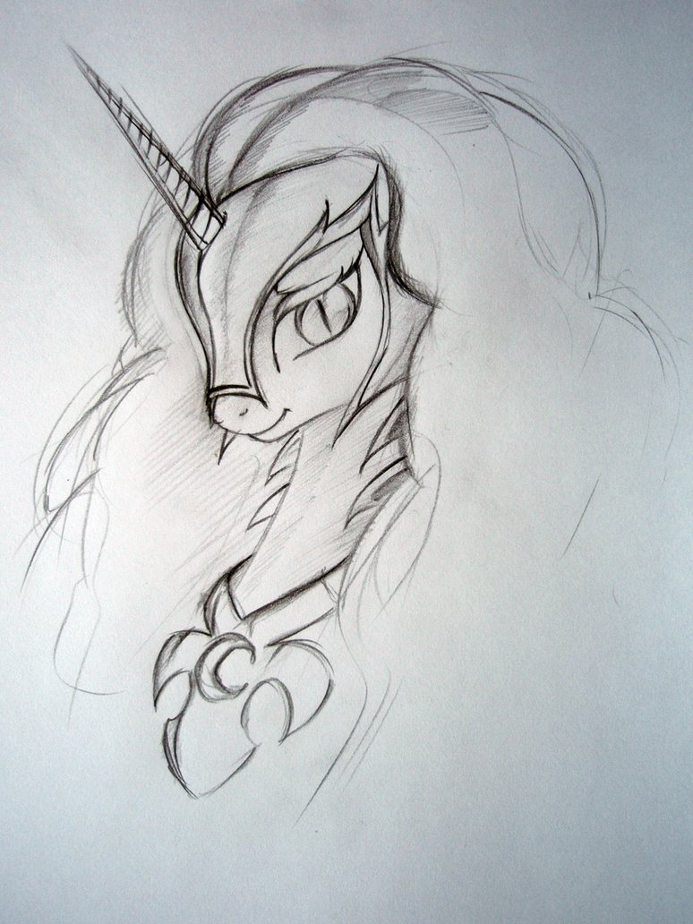 Drawn my little pony pencil drawing Ponies Thread Friendship pencil sketch