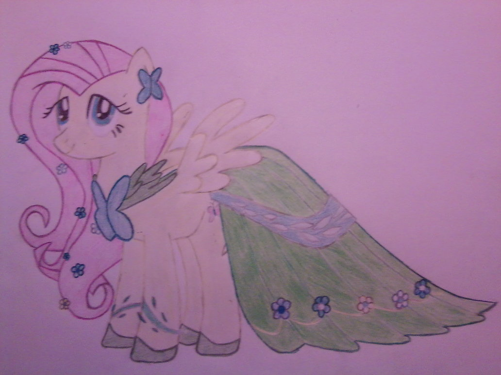 Drawn my little pony littel  is Friendship  Fluttershy