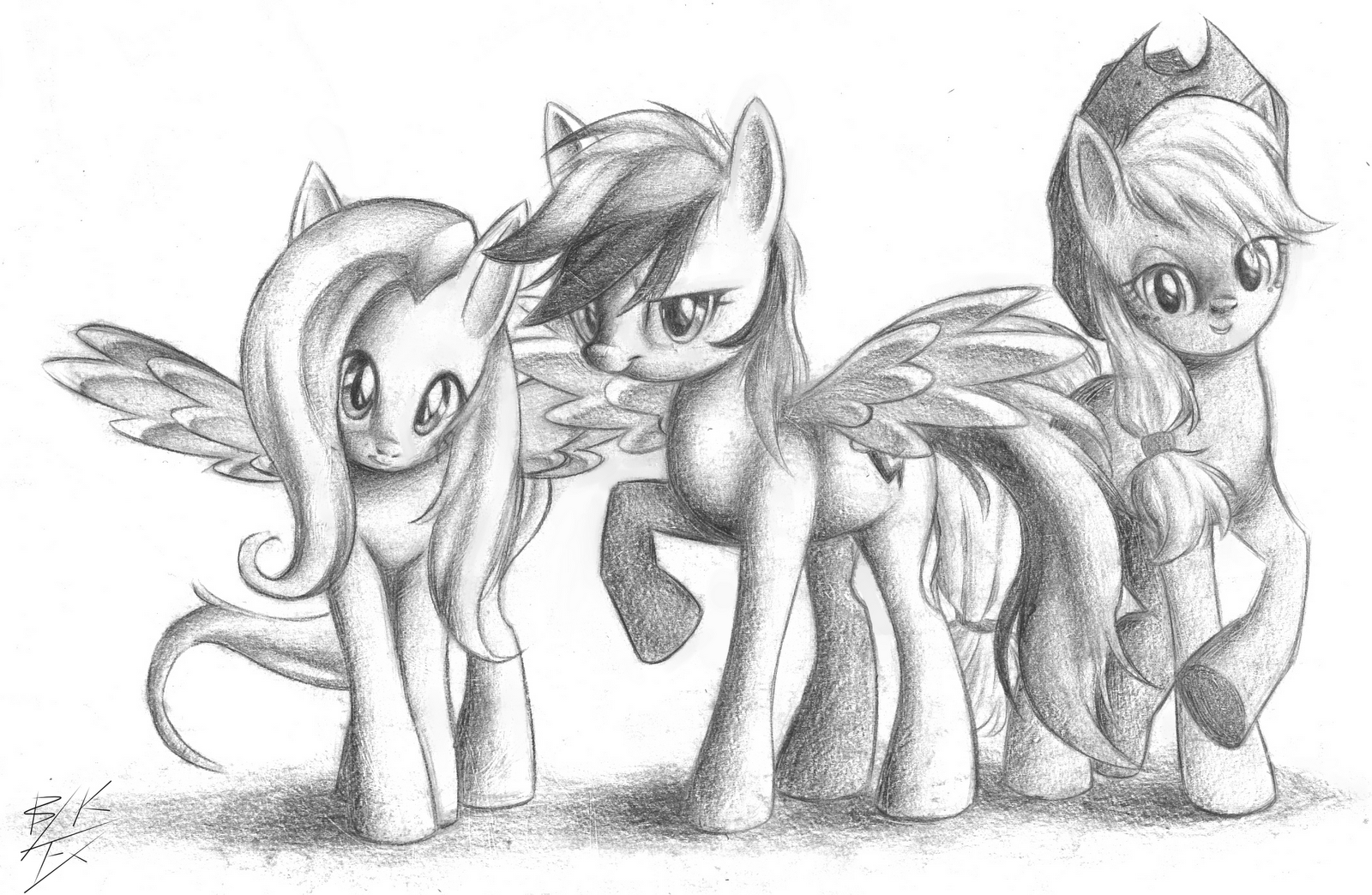 Drawn my little pony pencil drawing Free 11/16/11 Equestria Episodes 25+26