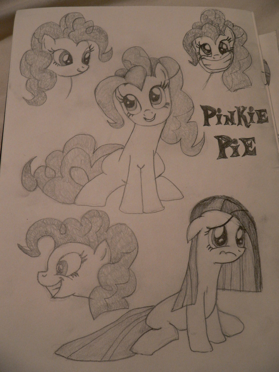 Drawn my little pony pencil drawing Pencil Pinkie by Drawing Pinkie