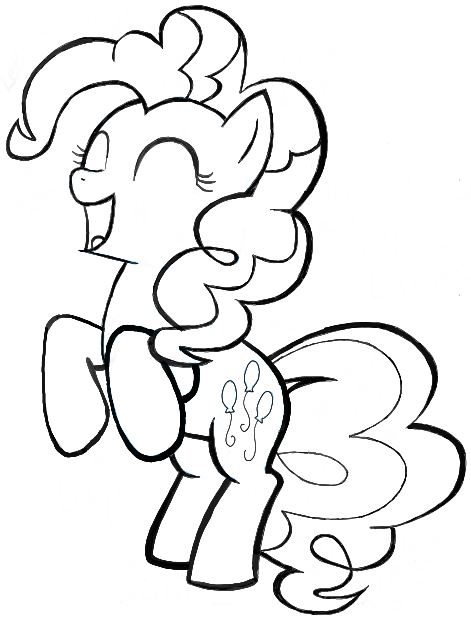 Drawn pony pinkie pie Happy Pony to How Steps