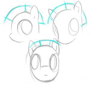 Drawn my little pony pony head Friendship is how Step 12