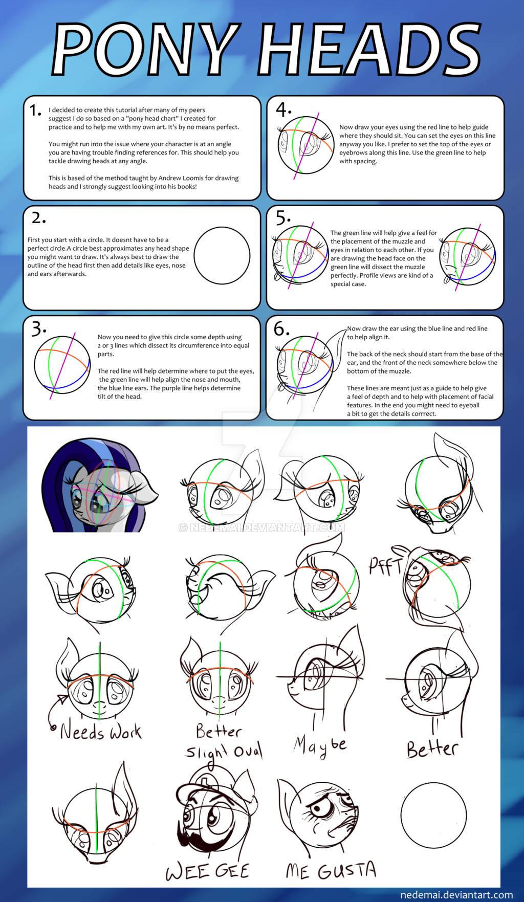 Drawn my little pony pony head Nedemai  Pony Pony by
