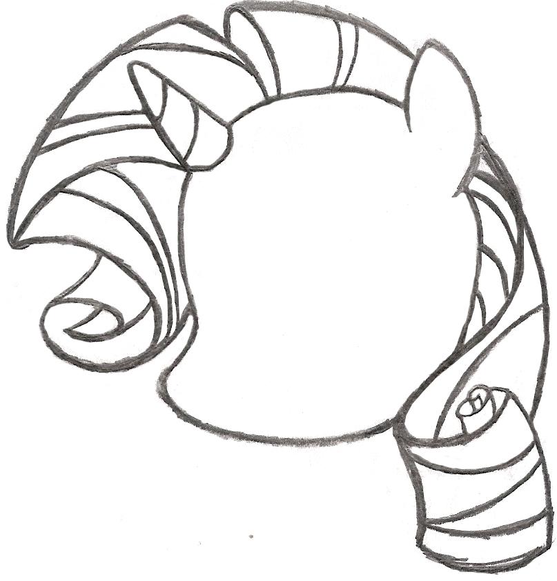 Drawn my little pony pony head AncientOwl My Sketch DeviantArt Rarity