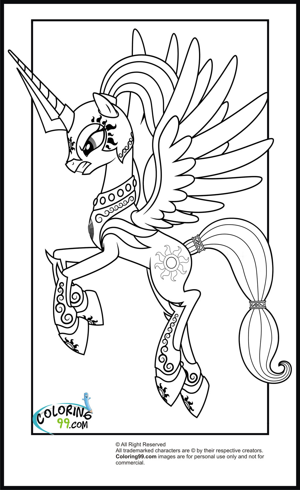Drawn armor rainbow #1