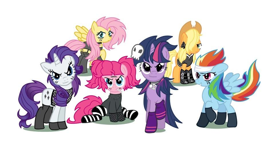 Drawn my little pony punk MLP girls Pinterest Pony MLP